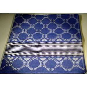 Hand- en Theedoek  - Lace - Royal  Blue