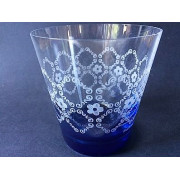 6x Water Glas - Blossom Blue