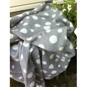 Plaid - Woolblend - Dots Grey